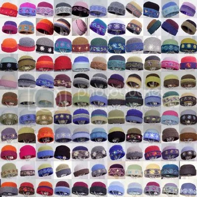 A collage of my Heirloom Handknit Hats sold in 2005.