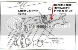 Briggs 23hp Vanguard Governor Tewaking?   LawnSite