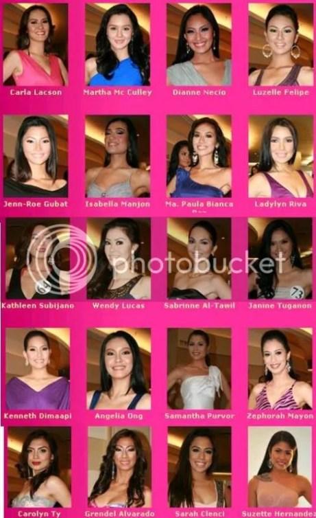 Bb. Pilipinas 2011 candidates