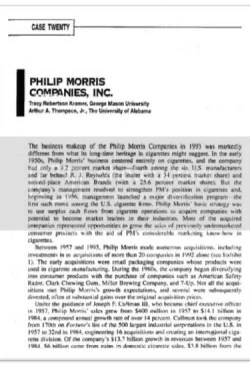 Philip Morris International Case Analysis