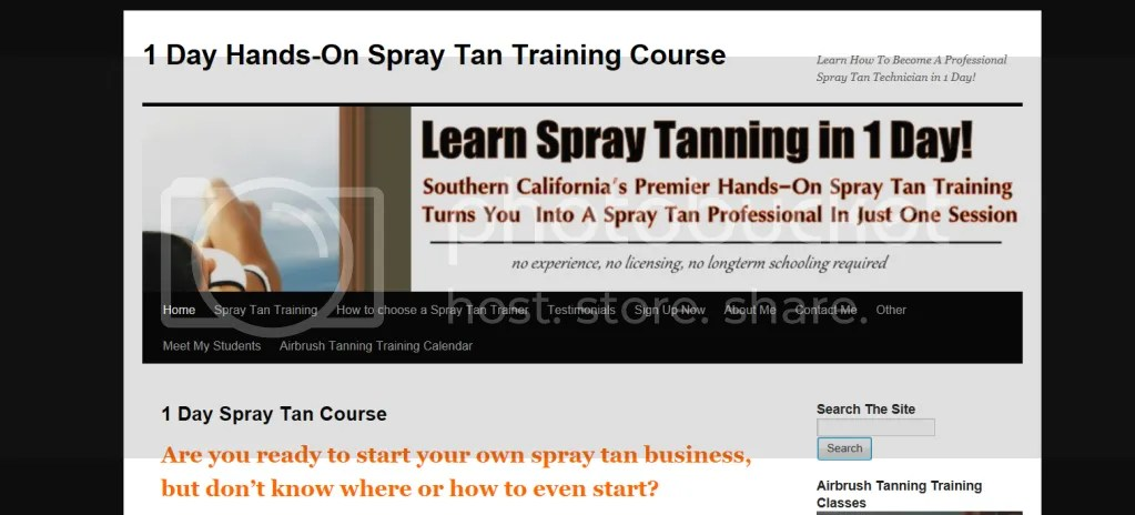 mobile spray tanning equipment