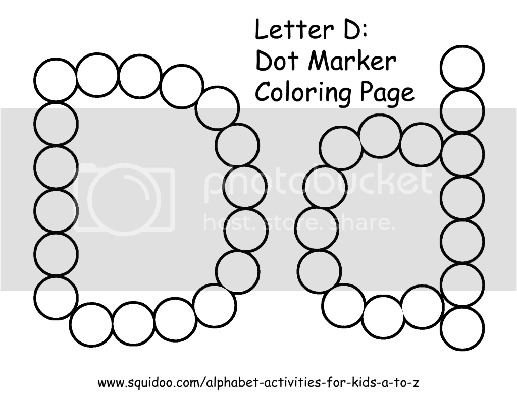 Letter D Dot Marker Coloring Page 1 Photo By Roamingrosie
