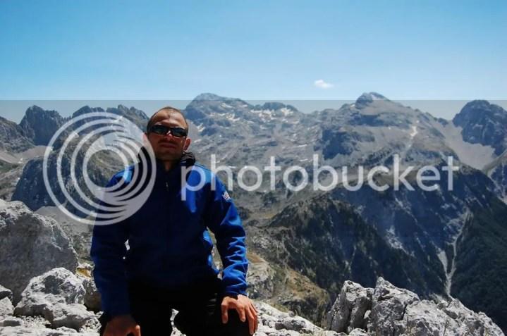 Enis at the summit Maja e Arapit