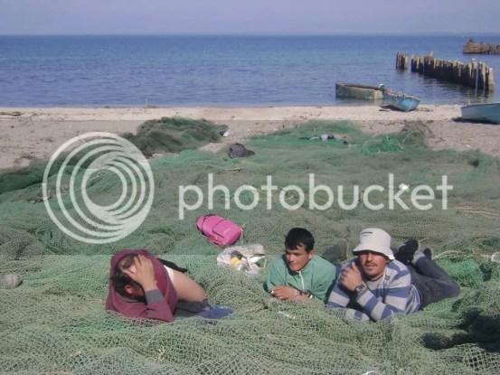 Fisherman at Rodonit cape
