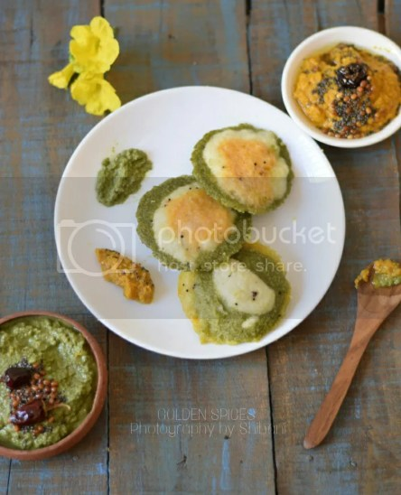 tri colour idli