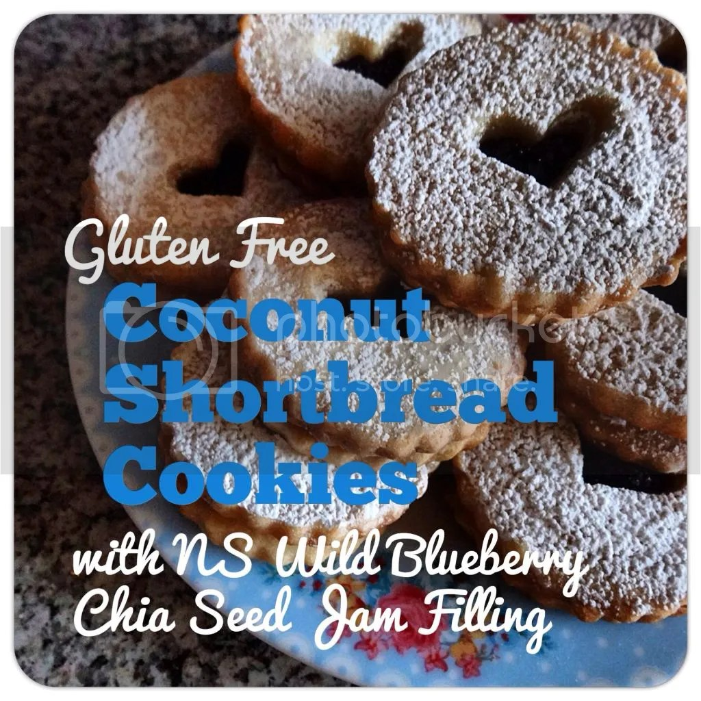 Gluten Free Coconut Shortbread with NS Wild Blueberry Chia Seed Jam Filling