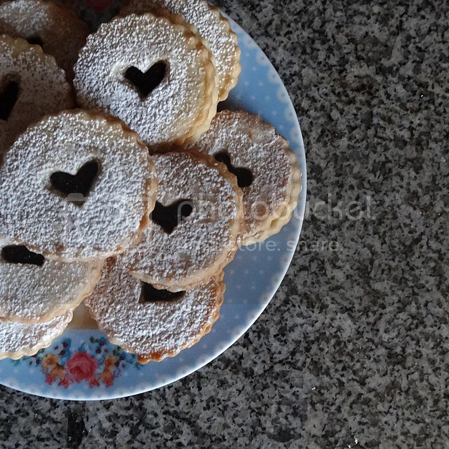 Gluten Free Coconut Shortbread Cookies with Blueberry Chia Seed Jam Filling