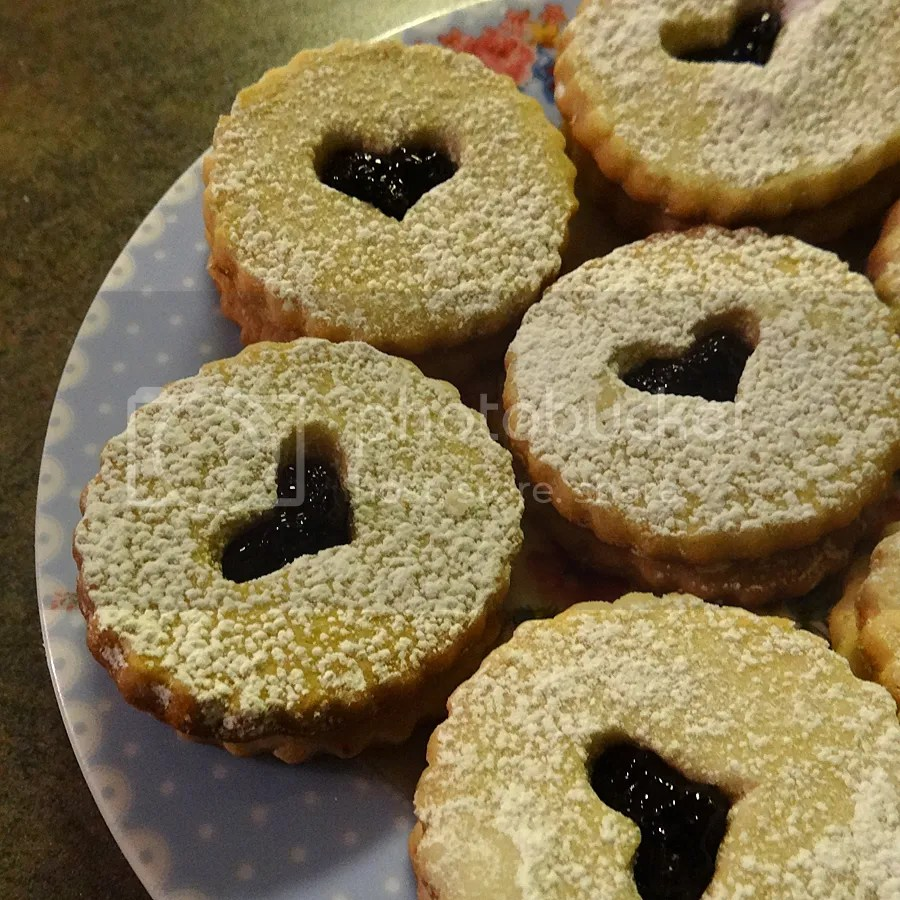 Gluten Free Shortbread Cookies with NS Wild Blueberry Chia Seed Jam Filling