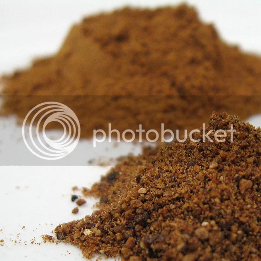 Nutmeg and cinnamon