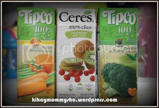 Tipco and Ceres 100% Fruit and Veggie Juice