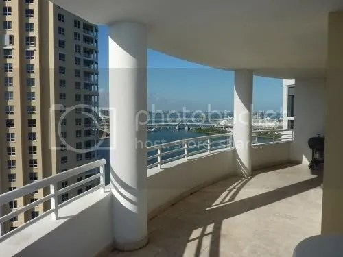 Two Tequesta Point 2905 terrace and view