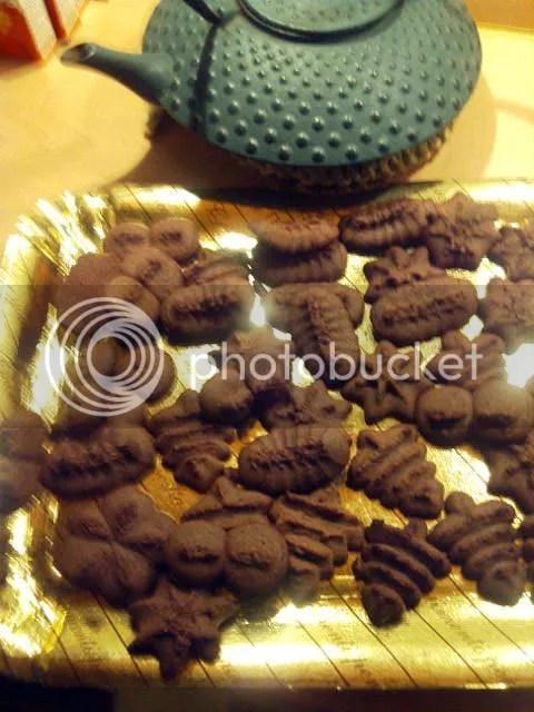 Biscotti al cioccolato di Montersino con sparabiscotti