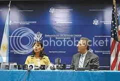 El embajador estadounidense y Trimarco hablaron sobre la importancia de enfrentar a las mafias