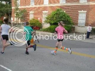 Me crossing the finish line at the Tomorrow's Children 5K Fun Run/Walk - Frankfort, Kentucky
