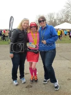 Heather, Me, and Cathy after the Lake Minnetonka Half Marathon - Excelsior, Minnesota