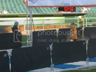 Me crossing the finish line at the Republic Bank Big Hit 1/4 Marathon - Louisville, Kentucky