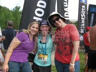 Heather, Me, and Cathy after the Minneapolis Half Marathon - Minneapolis, Minnesota