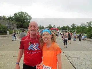 Jeff Wells (of Fleet Feet) and me after the Throo The Zoo 5K.  He made the run SO much fun...as always.  Thanks, Jeff!