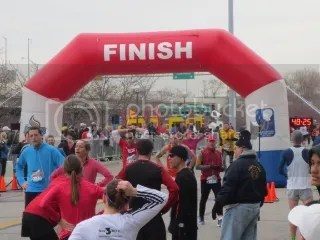 Me crossing the finish line of the Rodes City Run 10K - Louisville, Kentucky