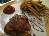 Sol Cuisine Organic BBQ Tofu Ribs (cooked in the oven and served w/ a side of homemade oven-baked fries)