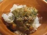 Tasty Bite Vegetable Korma over jasmine rice
