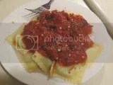 La Pasta Gluten-Free Spinach and Cheese Ravioli (cooked and sauced)