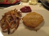 Sophie's Kitchen Breaded Vegan Fish Filets (oven baked and served with hand cut shoestring fries and organic ketchup)