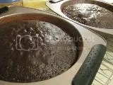 Layers of Cherrybrook Kitchen Gluten-Free Chocolate Cake cooling in pans