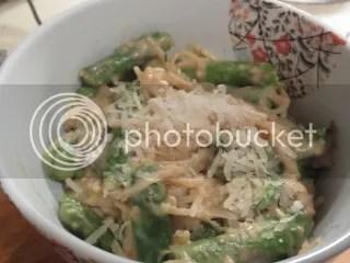 Gluten-Free Lemony Asparagus Pasta