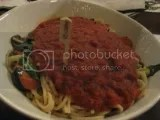 Mama Melrose's Gluten-Free Spaghetti Marinara with Chef Michael's Vegetable Selection