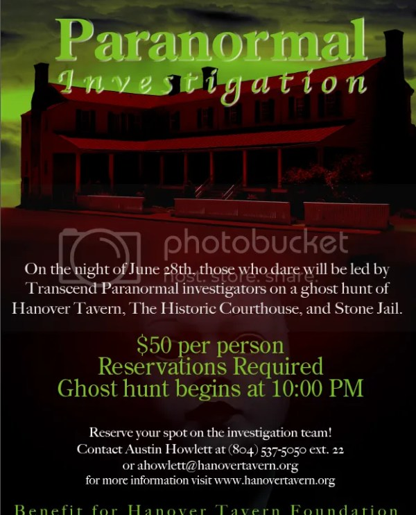 Paranormal Investigation & Reveal at Hanover Tavern