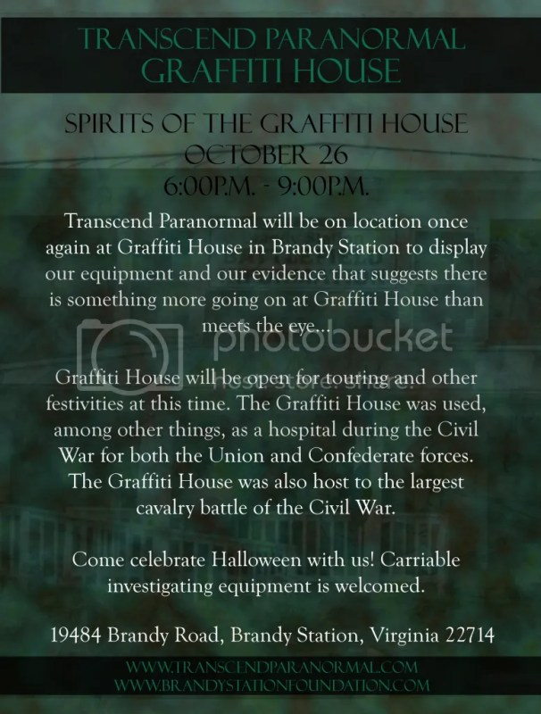 Transcend Paranormal: Spirits of the Graffiti House 2013
