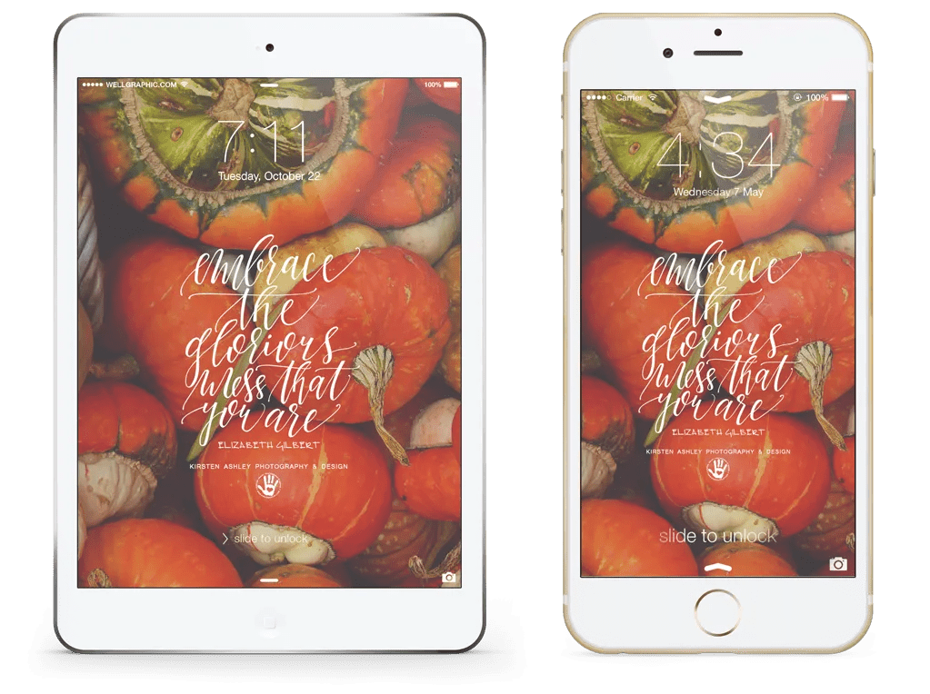 Kirsten Ashley Photography & Design | Free Lock Screen Wallpaper | October 2014