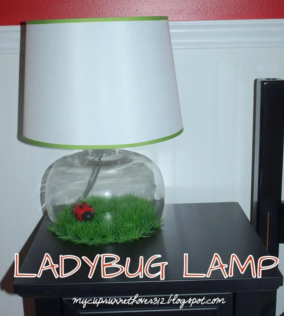 Lady bug lamp mycuprunnethoverblog you could get the same lamp and add mounds of sand paper and then mold dinosaurs or race cars you could mold butterflies and add them to wire and attach mozeypictures Choice Image