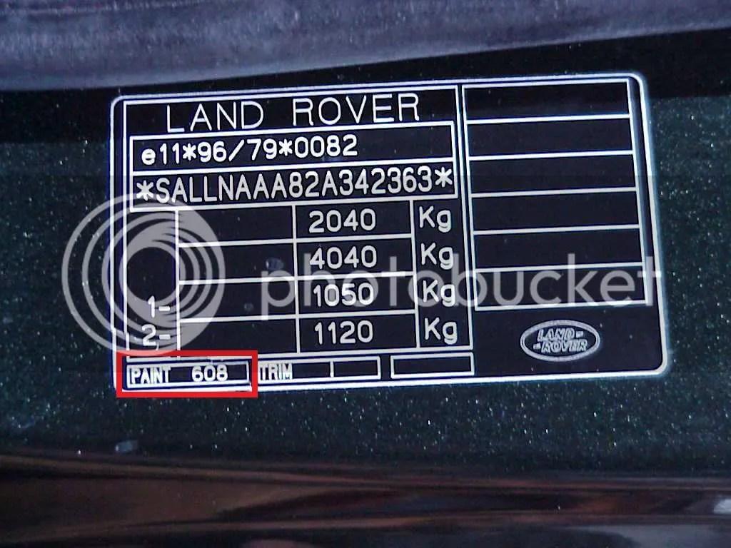 Car Aerosol Spray Paint Land Rover Range Sport Freelander