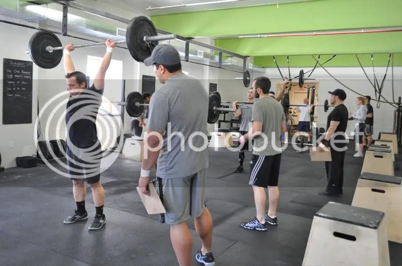 Men push press 115pound
