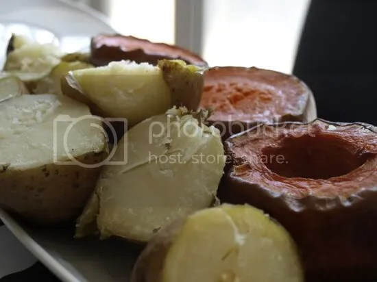 patata y calabaza al horno