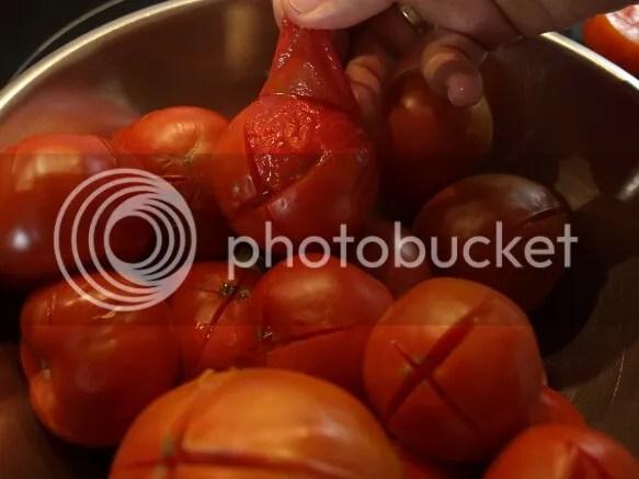 pelar tomate escaldado