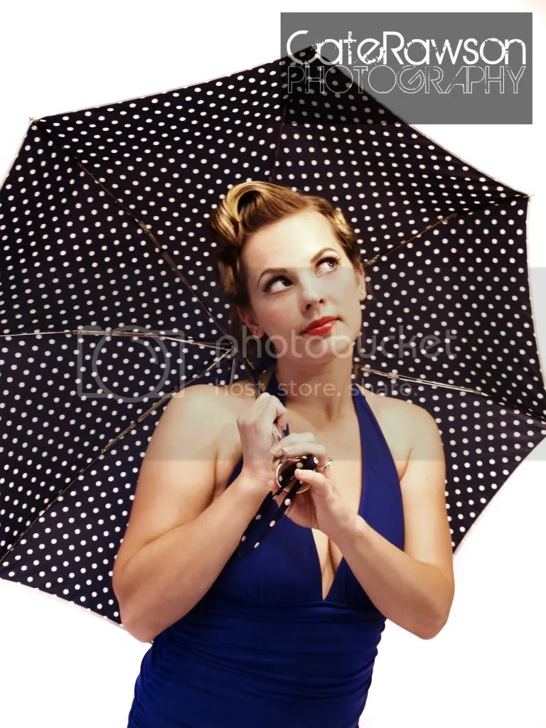 Umbrella pin up style photo