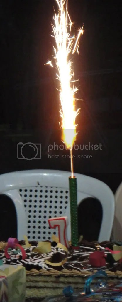 bursting fire birthday candle
