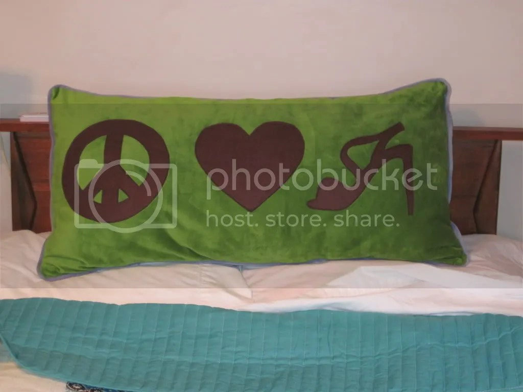 peace love shoes pillow