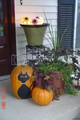 painted pumpkin at door copy