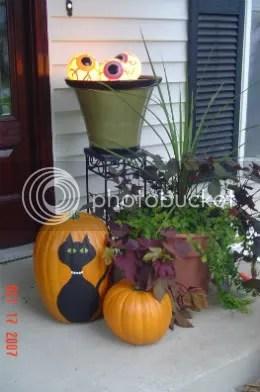 painted pumpkin at door copy