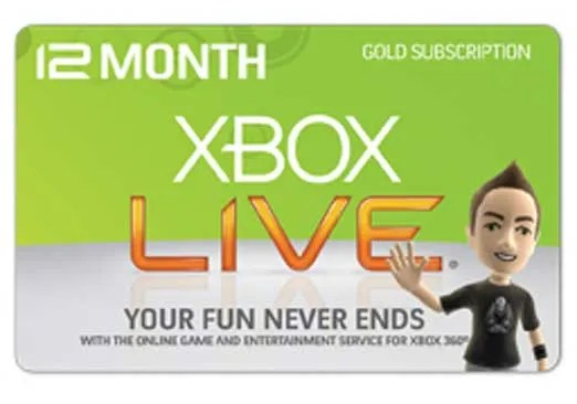12 Month Xbox LIVE Gold Membership Giveaway
