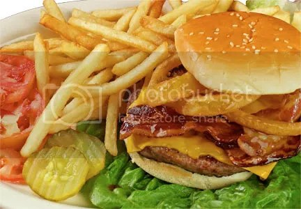 bacon cheeseburger and fries Pictures, Images and Photos