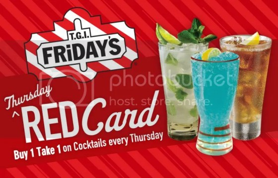 TGIFridays branches red card
