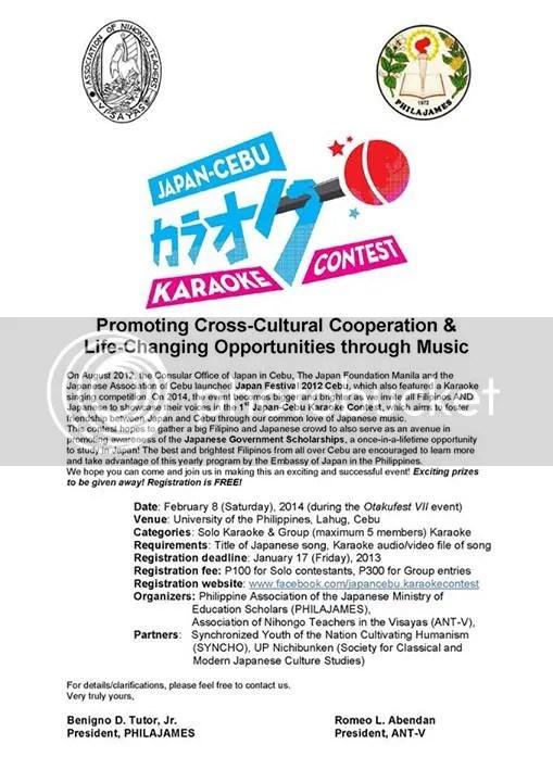 Japan-Cebu Karaoke Contest