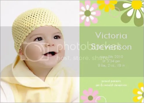 Easter Flower Blooms Baby Announcements