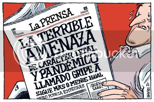 Viñeta publicada en el diario Público el domingo 3 de mayo de 2009 en la página 6. Está realizada por Manel Fontdevila