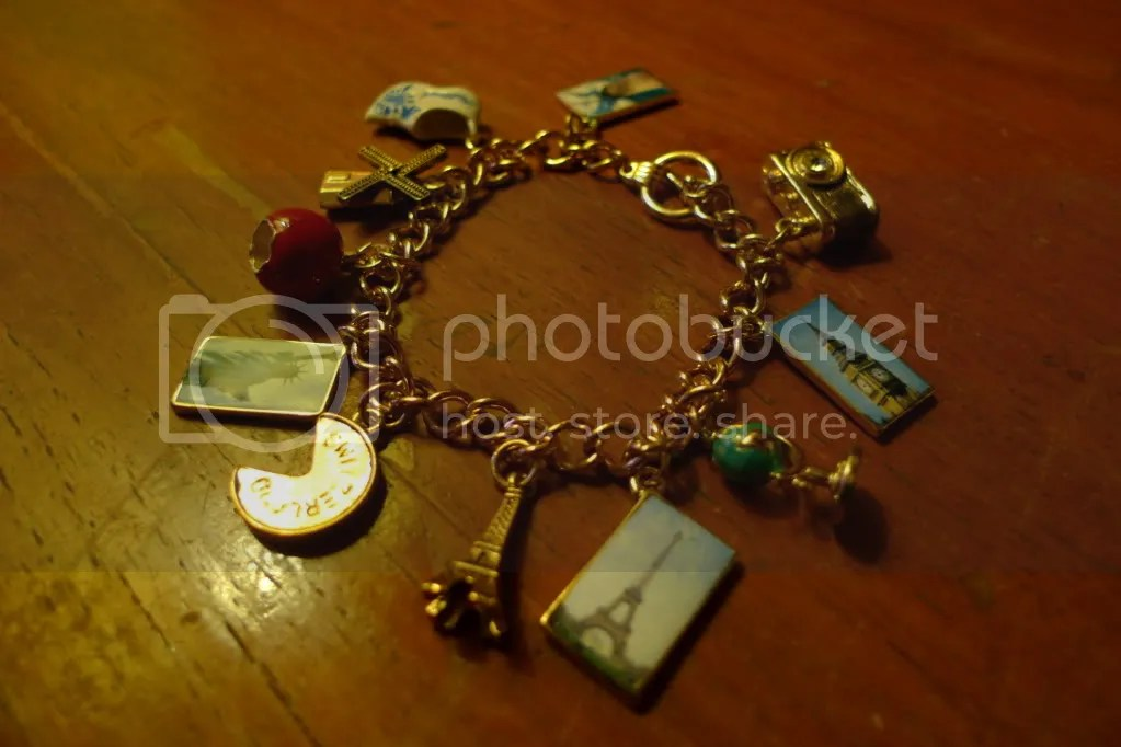 Postcard charm bracelet for PhP900.